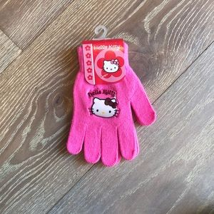 New pink Hello kitty gloves